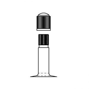[206001020] Tube, 24 x 1-3-8-, car valve
